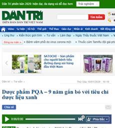 Dược phẩm PQA - 9 năm gắn bó với tiêu chí dược liệu xanh