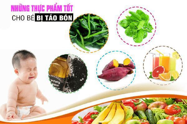Thực phẩm tốt cho trẻ bị táo bón