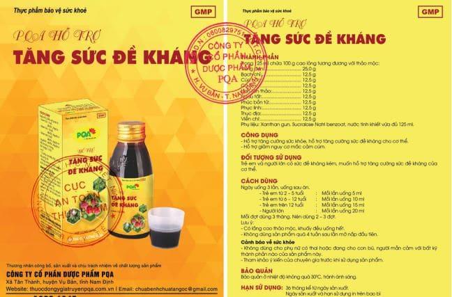 Sản phẩm được bọ y tế công nhận an toàn thực phẩm