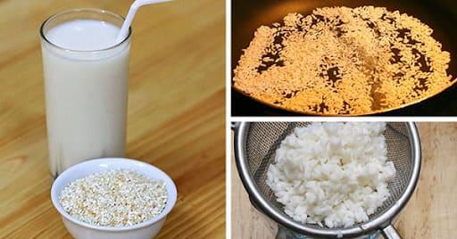 Cách làm sữa gạo loại bỏ nóng trong người