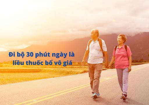 đi bộ là bài tập rất tốt cho người hen suyễn