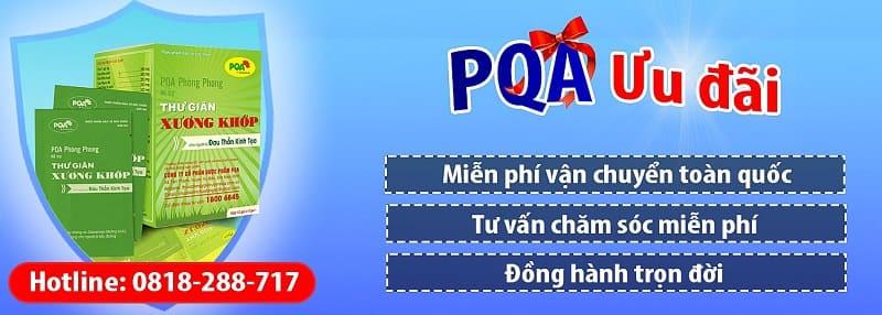 pqa phòng phong là sản phẩm chữa đau thần kinh tọa tốt nhất hiện nay