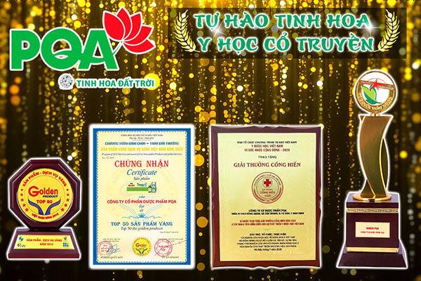 giải thưởng của Dược phẩm pqa