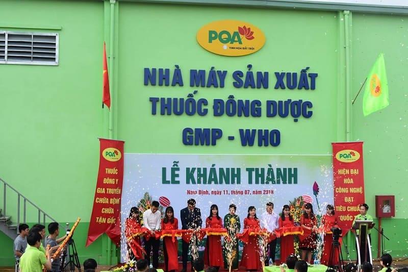 nhà máy sản xuất thuốc dược phẩm pqa