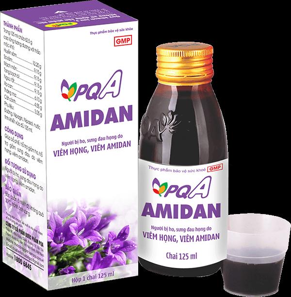 chữa viêm họng, viêm amidan mãn tính với pqa amidan
