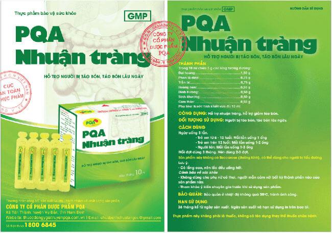 mô tả sản phẩm pqa nhuận tràng