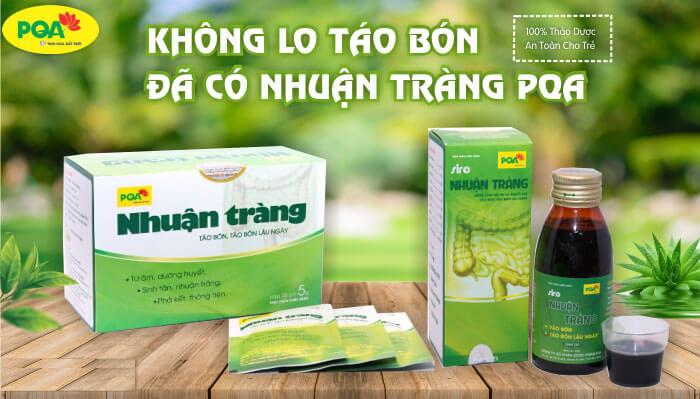 PQA Nhuận Tràng hỗ trợ điều trị dứt điểm táo bón từ gốc