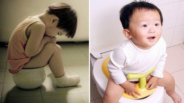 Dấu hiệu ở trẻ em bị táo bón