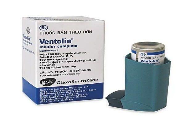 Thuốc xịt hen suyễn Ventolin