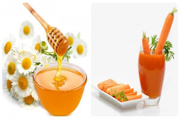 Mật ong và cà rốt giúp trị táo bón ở trẻ