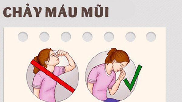 Sơ cứu trẻ em bị chảy máu mũi