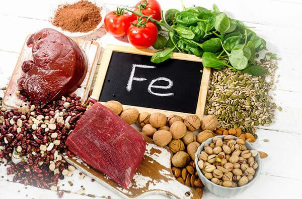 Chất sắt (Fe) giúp sản sinh hồng cầu