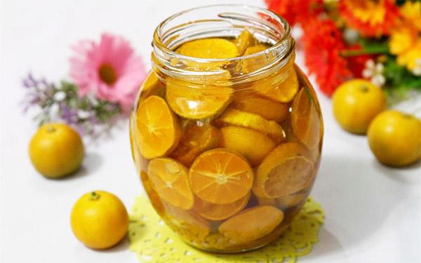 Chữa viêm amidan bằng quất và mật ong