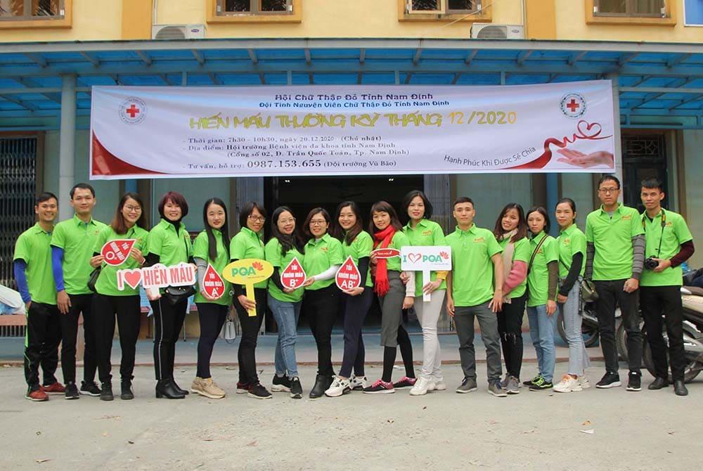 Dược phẩm pqa hiến máu tình nguyện tại viện Đa khoa Nam Định
