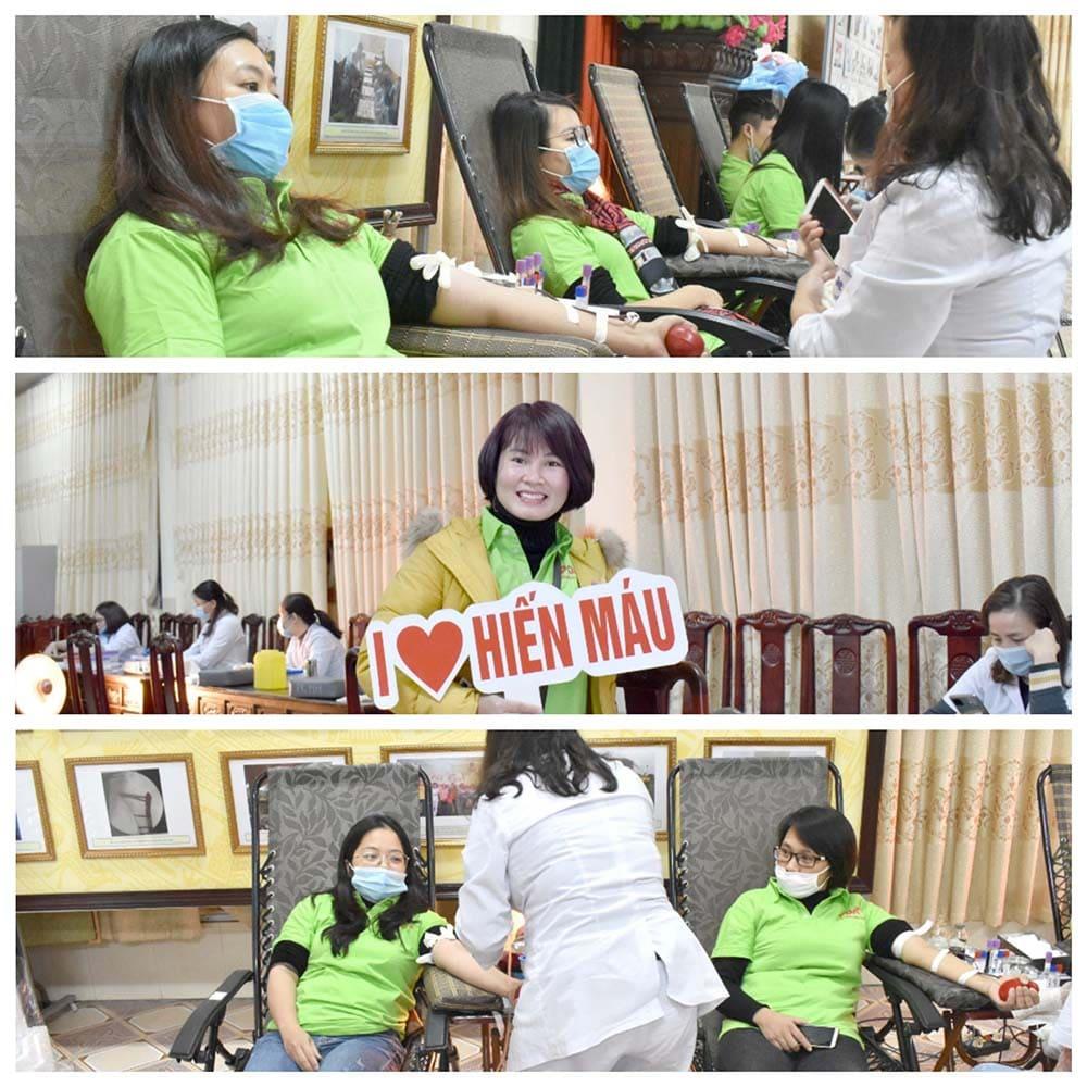 Dược phẩm pqa hiến máu tại viện Đa khoa Nam Định