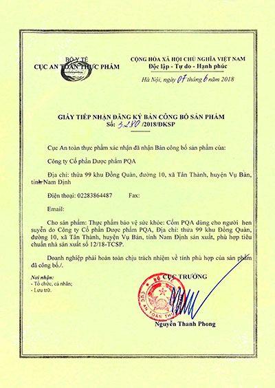 Cốm PQA Hen Suyễn